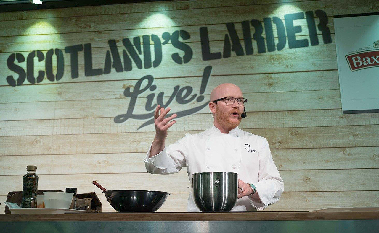 Scotland's Larder Live - Chef Gary Maclean cooking demonstratrion